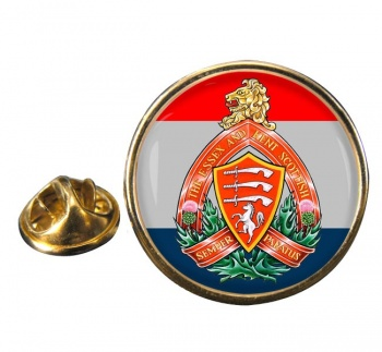 Essex and Kent Scottish (Canadian Army) Round Pin Badge