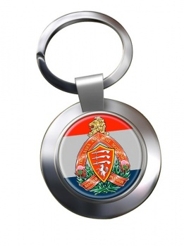 Essex and Kent Scottish (Canadian Army) Chrome Key Ring