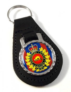 Engineer Branch (Canadian Army) Leather Key Fob
