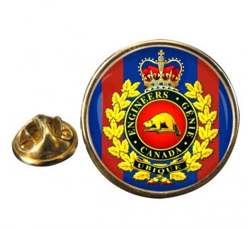 Engineer Branch (Canadian Army) Round Pin Badge