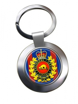 Engineer Branch (Canadian Army) Chrome Key Ring