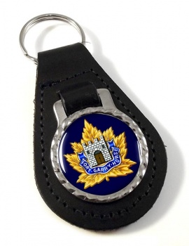 Fort Garry Horse (Canadian Army) Leather Key Fob