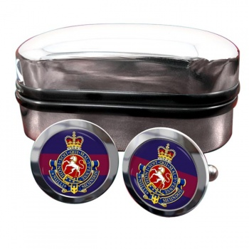 Governor General's Horse Guards (Canadian Army) Round Cufflinks