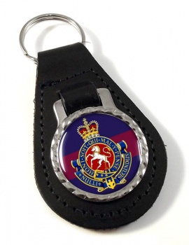 Governor General's Horse Guards (Canadian Army) Leather Key Fob