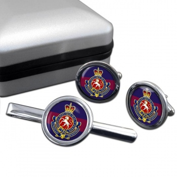 Governor General's Horse Guards (Canadian Army) Round Cufflink and Tie Clip Set