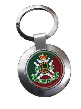 Grey and Simcoe Foresters (Canadian Army) Chrome Key Ring