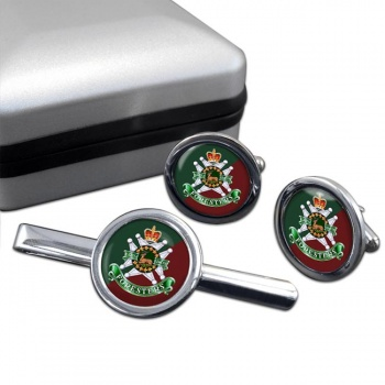 Grey and Simcoe Foresters (Canadian Army) Round Cufflink and Tie Clip Set