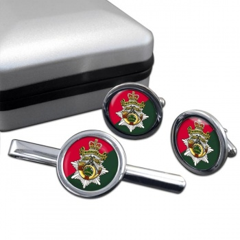 Halifax Rifles (Canadian Army) Round Cufflink and Tie Clip Set