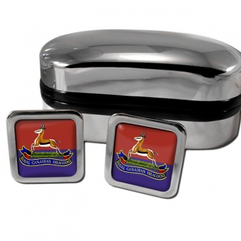 Royal Canadian Dragoons Square Cufflinks