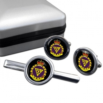 Canadian Joint Incident Response Unit (Canadian Army) Round Cufflink and Tie Clip Set