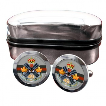 Loyal Edmonton Regiment (4th Battalion Princess Patricia's Canadian Light Infantry) Round Cufflinks
