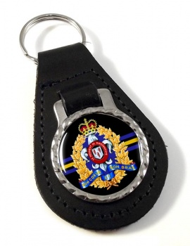Le Régiment de Maisonneuve (Canadian Army) Leather Key Fob