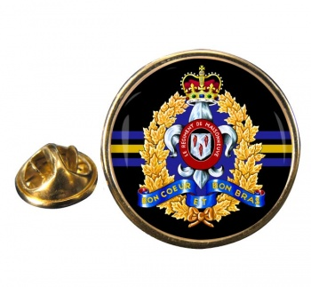 Le Régiment de Maisonneuve (Canadian Army) Round Pin Badge