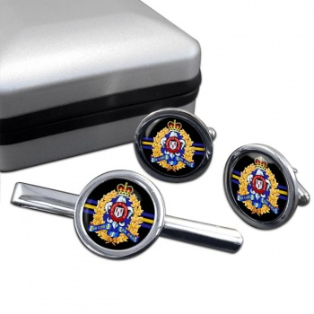 Le Ré�giment de Maisonneuve (Canadian Army) Round Cufflink and Tie Clip Set