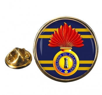 Les Fusiliers du St-Laurent (Canadian Army) Round Pin Badge