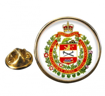 Lord Strathcona's Horse (Royal Canadians) Round Pin Badge