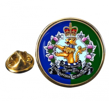 Lorne Scots (Peel Dufferin and Halton Regiment) Canadian Army Round Pin Badge