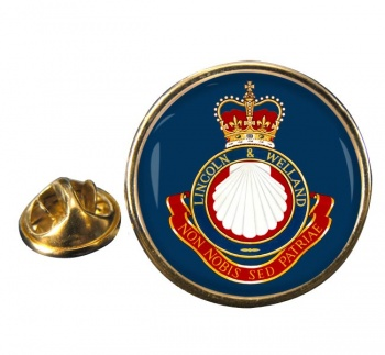 Lincoln and Welland Regiment (Canadian Army) Round Pin Badge