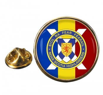 Nova Scotia Highlanders (Canadian Army) Round Pin Badge