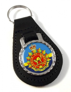 Ontario Regiment (Canadian Army)  Leather Key Fob