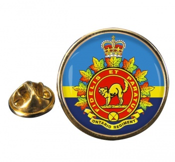 Ontario Regiment (Canadian Army)  Round Pin Badge