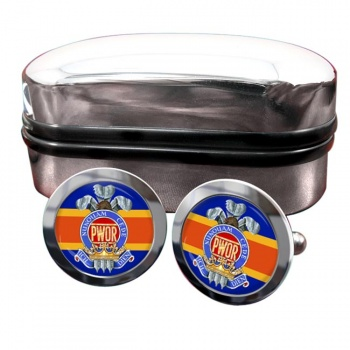 Princess of Wales' Own Regiment (Canadian Army)  Round Cufflinks
