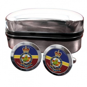 Royal Montreal Regiment (Canadian Army) Round Cufflinks
