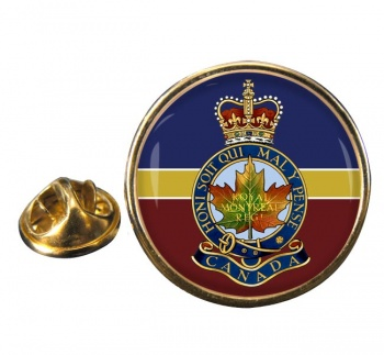 Royal Montreal Regiment (Canadian Army)  Round Pin Badge