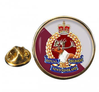 Royal Newfoundland Regiment (Canadian Army)  Round Pin Badge