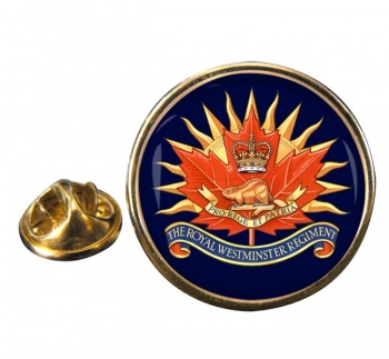 Royal Westminster Regiment (Canadian Army)  Round Pin Badge