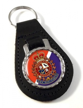 Sherbrooke Hussars (Canadian Army) Leather Key Fob