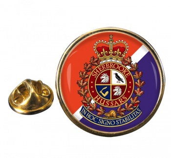 Sherbrooke Hussars (Canadian Army) Round Pin Badge