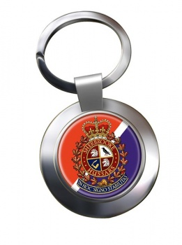 Sherbrooke Hussars (Canadian Army) Chrome Key Ring