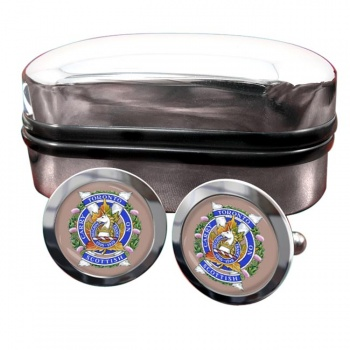 Toronto Scottish Regiment (Queen Elizabeth The Queen Mother's Own) Round Cufflinks