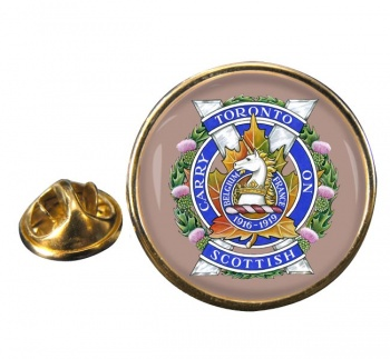 Toronto Scottish Regiment (Queen Elizabeth The Queen Mother's Own) Round Pin Badge