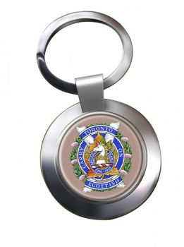 Toronto Scottish Regiment (Queen Elizabeth The Queen Mother's Own) Canadian Army Chrome Key Ring