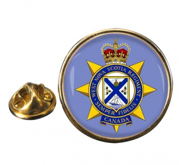 West Nova Scotia Regiment (Canadian Army)  Round Pin Badge