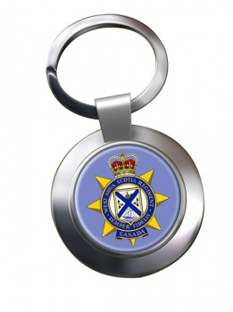 West Nova Scotia Regiment (Canadian Army)  Chrome Key Ring