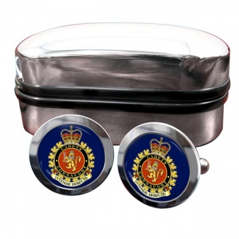 Connaught National Army Cadet Summer Training Centre (Canadian Cadets) Round Cufflinks