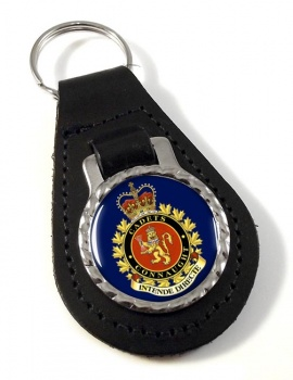 Connaught National Army Cadet Summer Training Centre (Canadian Cadets) Leather Key Fob