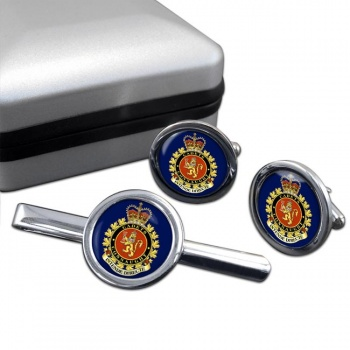 Connaught National Army Cadet Summer Training Centre (Canadian Cadets) Round Cufflink and Tie Clip Set