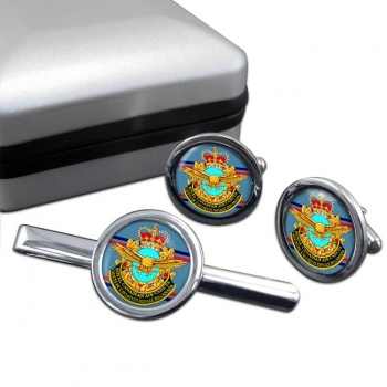 Royal Canadian Air Cadets Round Cufflink and Tie Clip Set