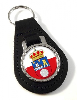 Cantabria (Spain) Leather Key Fob