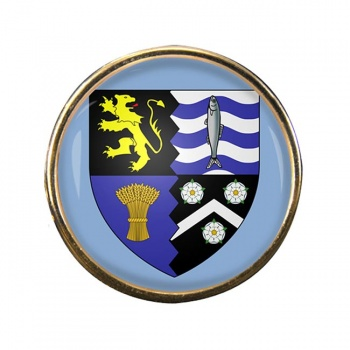Cardiganshire Ceredigion Round Pin Badge