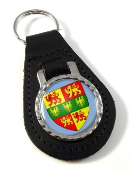 Caernarfonshire Carnarvonshire  Leather Key Fob