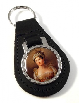 Caroline Bonaparte Leather Key Fob