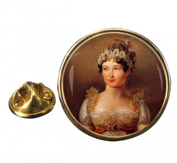 Caroline Bonaparte Round Pin Badge