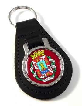 Cartagena (Spain) Leather Key Fob
