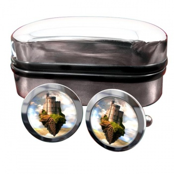 Castles in the Air Round Cufflinks