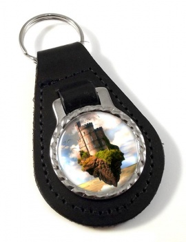Castles in the Air Leather Key Fob